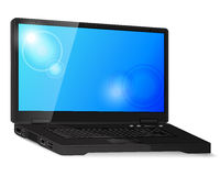 Black laptop Stock Images