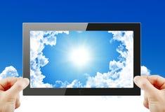 Black generic tablet pc. 3d render Royalty Free Stock Photos