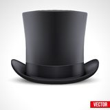 Black gentleman hat cylinder vector background Stock Photos
