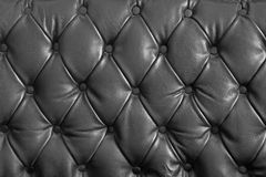 Black genuine leather Stock Images