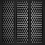 Black Geometric Banner. Royalty Free Stock Image