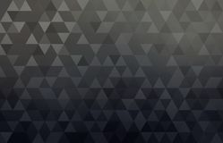 Black geometric conceptual business abstract background. Simple triangular shapes pattern. royalty free illustration