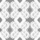 Black geometric lacy pattern. Vector seamless pattern Royalty Free Stock Photos