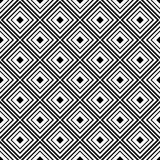 Black geometric ornament on white background. Seamless pattern Royalty Free Stock Photography