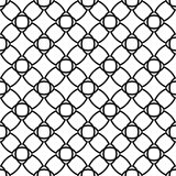 Black geometric ornament on white background. Seamless pattern. For web, textile and wallpapers Royalty Free Stock Image