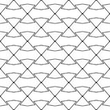 Black geometric ornament on white background. Seamless pattern. For web, textile and wallpapers Stock Image