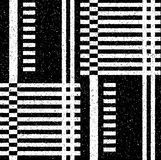 Black geometric pattern in a fine speckled Royalty Free Stock Photo