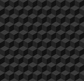 Black geometric seamless background Stock Photography