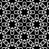 Black GEOMETRIC seamless pattern in white background Stock Images