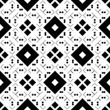 Black GEOMETRIC seamless pattern in white background Royalty Free Stock Photography