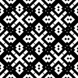 Black GEOMETRIC seamless pattern in white background Stock Photography