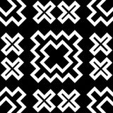 Black GEOMETRIC seamless pattern in white background Stock Image