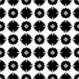 Black Geometric Seamless pattern in white background Royalty Free Stock Photos