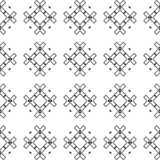 Black Geometric Seamless pattern in white background. Vector seamless pattern. Simple stylish abstract geometric background. Design for decor, prints, textile royalty free illustration
