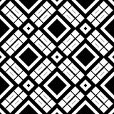 Black GEOMETRIC seamless pattern in white background Royalty Free Stock Photo