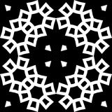 Black GEOMETRIC seamless pattern in white background Royalty Free Stock Image