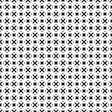 Black Geometric Seamless pattern in white background. Vector seamless pattern. Simple stylish abstract geometric background. Design for decor, prints, textile Stock Image