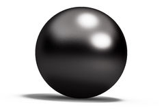 Black geometric shapes sphere Royalty Free Stock Photography