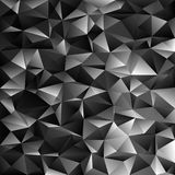 Geometrical abstract irregular triangle background. Black geometrical abstract irregular triangle background - polygon vector illustration from dark grey Stock Images
