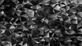 Geometrical abstract tiled triangle pattern background - vector mosaic design from dark grey toned triangles Royalty Free Stock Photography