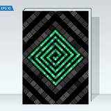 Black geometry design Cover brochure. color maze of cubes, geometry backgrounds. Dark design Cover brochure. color maze of cubes, geometry backgrounds. Vector Stock Photo
