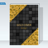 Black geometry design Cover brochure. Vector template Layout for annual report, book cover, headline,. Black design Cover brochure. color square, geometry Royalty Free Stock Image