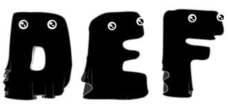 Black Ghost Alphabet Stock Photo