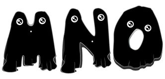 Black Ghost Alphabet Royalty Free Stock Image
