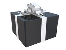 Black gift box Royalty Free Stock Image