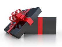 Black gift box Stock Images