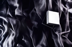 Black gift box Stock Photos