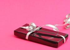 A black gift box Stock Photos