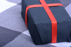 Black gift box, holiday concept Stock Photography
