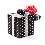 Black gift box Royalty Free Stock Images