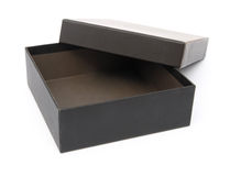Black gift box opened Stock Photos