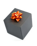 Black Gift Box Stock Photography