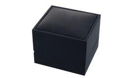 Black gift box on a white background Royalty Free Stock Photos