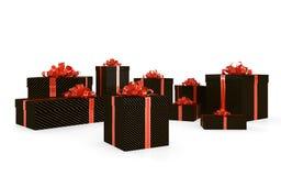 Black gift boxes Stock Image