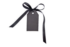 Black gift tag Stock Image