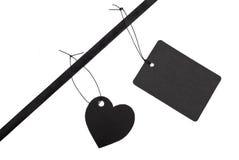 Black gift tags Royalty Free Stock Photos