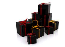 Black gifts Royalty Free Stock Photography