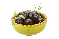 Black gigant olives Stock Images