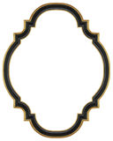 Black gilded frame Stock Photography