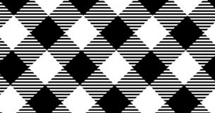 Black gingham pattern background.Texture from rhombus.Vector ill stock illustration
