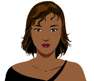 Pretty black woman face Royalty Free Stock Photos