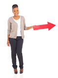 Black girl arrow Stock Images