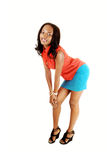 Black girl bending down. Stock Photography