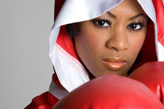 Black Girl Boxing Royalty Free Stock Image