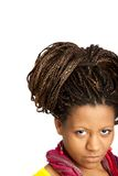 Black girl with exotic hairstyle Stock Photos