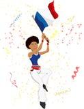 Black Girl France Soccer Fan Royalty Free Stock Photography
